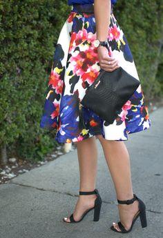 Floral print Midi Skirt | Because Shanna Said So
