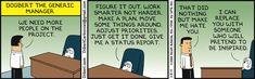 Some Dilbert project management Dilbert Cartoon, Dilbert Comics, Office Humor, Work Humor, Read Newspaper, Tech Humor, Website Features, Make A Plan, Animation