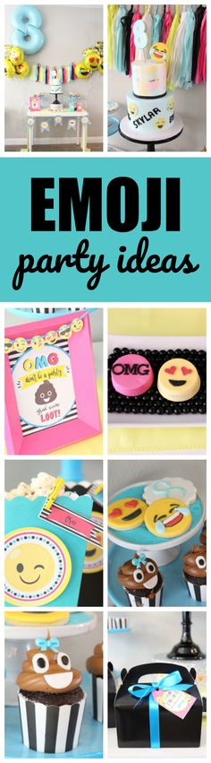 Amazing Emoji Birthday Party featured on www.prettymyparty.com