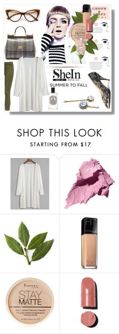 """""""shein"""" by bellamonica ❤ liked on Polyvore featuring Diptyque, Bobbi Brown Cosmetics, Maybelline, Rimmel, Chanel and Viktor & Rolf"""