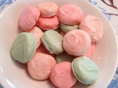 Aunt Nina Gale used to make these....White chocolate candy melts with pastel coloring on homemade peppermint patties for Easter!  #wiltoncontest