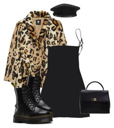 """Untitled #40"" by denyajane ❤ liked on Polyvore featuring Dr. Martens and Chanel"