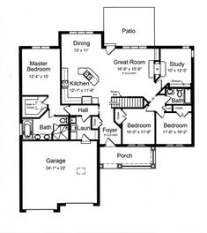 Craftsman Style House Plan - 3 Beds 2 Baths 1818 Sq/Ft Plan #46-836 - Floorplans.com