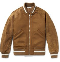 Not every bomber jacket will hold up when the temperature starts to drop, but this one from Tokyo label <a href='http://www.mrporter.com/mens/Designers/Nonnative'>nonnative</a> has lightweight PrimaLoft® fill to keep you comfortably warm. Made in Japan from suede and a substantial wool-blend, it has retro-inspired striped trims and colourful sleeve lining sourced from Liberty London.