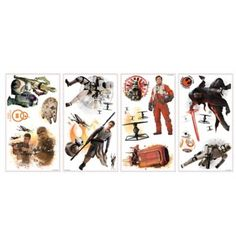 """Disney® Star Wars™ """"The Force Awakens"""" Peel and Stick Wall Decals - BedBathandBeyond.ca"""