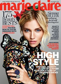 Sienna Miller on Marie Claire US October 2015 cover