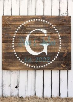 Custom Wood Sign, Established