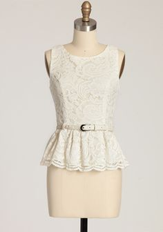 Love Struck Lace Peplum Top | Modern Vintage Tops