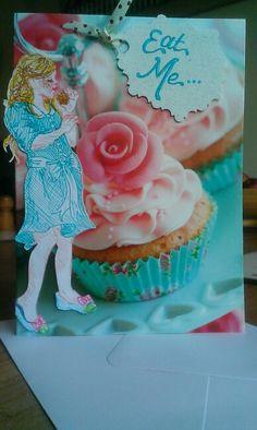 Personalised card. Alice in wonderland illustration