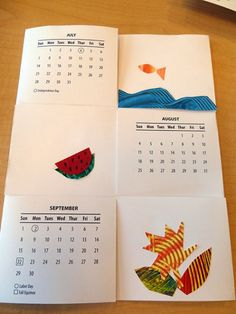 Flexagon calendar and great site to make book with kids