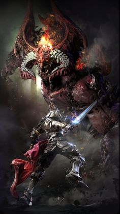 What's better than a giant monster???... Obviously a giant Demon... Monster by soon77soo