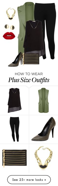 """""""plus size girls night chic"""" by kristie-payne on Polyvore featuring WearAll, M&Co, Label Lab, Giuseppe Zanotti, Moschino, Chanel, Pluma and Lime Crime"""