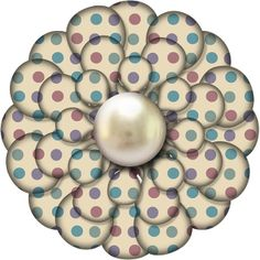 Free Polka Dot Pearl Digital Scrapbook Flower Element 45  ***Join 1,550 people and follow our Free Digital Scrapbook Board. New Freebies every day.