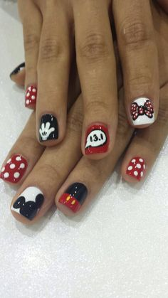 Nail Art Short Nails French Manicure Fitnailslover The thread i posted above has a template and a lot of information about using d. Disney Nail Designs, Holiday Nail Designs, Winter Nail Designs, Simple Nail Art Designs, Cute Nail Designs, Acrylic Nail Designs, Minnie Mouse Nails, Mickey Nails, Disney Acrylic Nails
