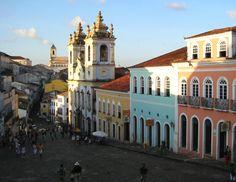 Pelourinho, colonial architecture,Salvador, Bahia, Brazil