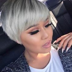 Mach+mit+beim+Granny+Trend+und+färbe+Dir+die+Haare+Grau!+Heute+12+inspirierende+'graue'+Kurzhaarfrisuren+..