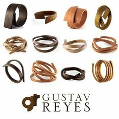 limited edition bent wood bracelets & cuffs by Gustav Reyes