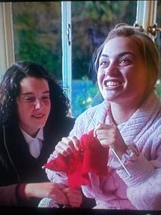 Kate Winslet knitting in Heavenly Creatures (I don't know if its really her yarn)