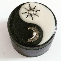 Sun & Moon Yin Yang Aluminium Herb Weed Tobacco Grinder by Planetbear on Etsy
