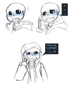 More sans. More blushing sans~ This is a response to my asks on tumblr, apparently people like to talk to sans! Art (c) Me Undertale (c) Toby Fox