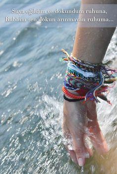 Suya eğildim ve dokundum ruhuna,  Rabbim sen dokun arınmayan ruhuma...  #sözler…