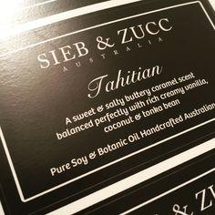 New fragrance at SIEB & ZUCC 🌴 Tahitian 🍮