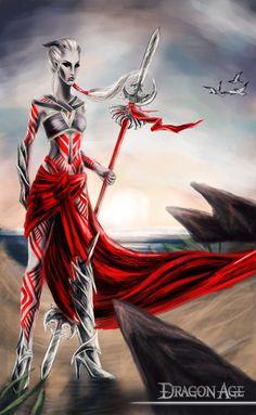 Female Qunari by Estelinakina.deviantart.com on @deviantART