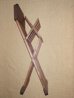 renaissance folding chair folded halfway