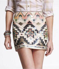 the perfect summertime skirt. aztec inspired. LOVE  esta falda yo la conozco! xD