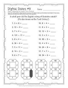Digital Dates #3 - free puzzle download mixing math with history
