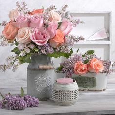 Marianna Lokshina - Floral_still Beautiful Roses, Beautiful Flowers, Floral Bouquets, Floral Wreath, Rosen Tee, Arte Floral, Rose Bouquet, Schmidt, Flower Designs
