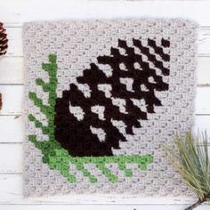 Corner-To-Corner Crochet Pinecone Pattern. This and the snowflake pattern are cute. Could make throw pillow covers outta them, or even a throw blanket. Use bamboo or cotton or other natural fiber yarns. Synthetic yarns get itchy over time (I think so anyway)