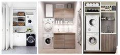 6 tips voor een slimme bijkeuken Stacked Washer Dryer, Washer And Dryer, Laundry, Home Appliances, Tips, Laundry Room, House Appliances, Washing And Drying Machine, Appliances