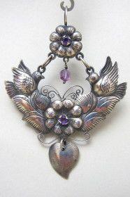 / amethyst mexican earrings / elena solow of blue jaguar / Nice Jewelry, Rustic Jewelry, Tribal Jewelry, Statement Jewelry, Jewelry Ideas, Jewelry Design, Mexican Jewelry, Southwest Jewelry, Beading Jewelry