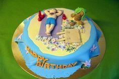 tort z galerii tortów urodzinowy najlepszy dla osoby która marzy o wypocztnu na rajskiej plaży