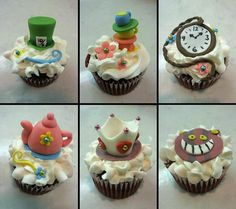 It's Alvina's birthday and she loves Alice in Wonderland, so I decided to make her Alvina in Wonderland cupcakes.  These are red velvet choc...