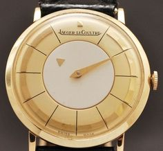 Jaeger LeCoultre Mystery Dial Men's Watch , 14K Gold Watch Circa 1950 from vintagewatches on Ruby Lane