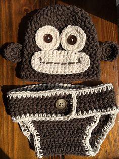 Monkey Newborn Set - $3.99 by Semi Sweet Charm