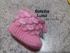 Knitting For Kids, Baby Knitting, Free Crochet, Knit Crochet, Knitting Patterns, Crochet Patterns, Pink Boots, Baby Girl Crochet, Crochet Shoes