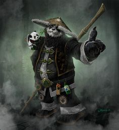 Pandaren- the two things i like most about this character is the little detail…