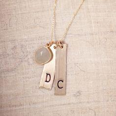 brigitte modern initial necklace.