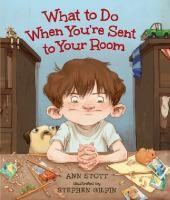 What To Do When You're Sent to Your Room by Ann Stott. Ben spends a lot of time in his room--not by choice. So he has come up with a surefire survival plan that includes a secret stash of food, ongoing interesting projects, and making birthday and Christmas lists. One wonders if he gets sent there on purpose! #MCDL #PictureBooks