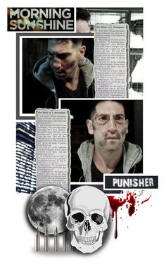 """""""Frank Castle... I am the Punisher"""" by evil-laugh ❤ liked on Polyvore featuring art and botfcrushess1"""