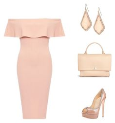 """""""A Little Blush Rush"""" by simpleelegance-558 ❤ liked on Polyvore featuring Posh Girl, Kendra Scott and Givenchy"""