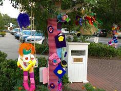 Fairhope, AL has been yarn bombed. The street art phenomenon, Art on a Limb…