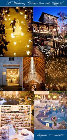 Unique wedding lighting ideas from sparklers to floating lanterns to fairy lights - #weddingvenuelighting