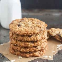 My Favorite Oatmeal Raisin Cookies: crisp on the outside and perfectly chewy inside.  Perfection!
