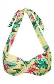 Góra od bikini (żółty/w kwiaty) String Bikinis, Bags, Dental Floss, Handbags, Totes, Lv Bags, Hand Bags, Bag, Pocket