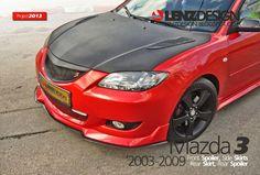 Mazda 3 BK Lenzdesign Bodykit & Spoilers 2003 2004 2005 2006 2007 2008 2009 Mazda 3 Hatchback, Carbon Fiber, Zoom Zoom, Kit, Ideas, Car Stuff, Cars, Mazda 3 Sedan, Chevy Trucks