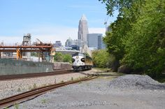 NS 956 lead by the 4271 at Summit Avenue in Charlotte, NC, on April 15, 2016